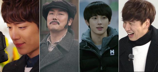 Seo Kang-jun, from left, Cho Jin-woong, Yim Si-wan and Lee Kwang-soo