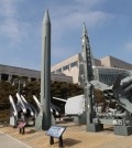 "A mock Scud-B missile of North Korea, left, and other South Korean missiles are displayed at the Korea War Memorial Museum in Seoul, South Korea, Wednesday, Feb. 3, 2016. South Korea warned on Wednesday of ""searing"" consequences if North Korea doesn't abandon plans to launch a long-range rocket that critics call a banned test of ballistic missile technology.(AP Photo/Ahn Young-joon)"