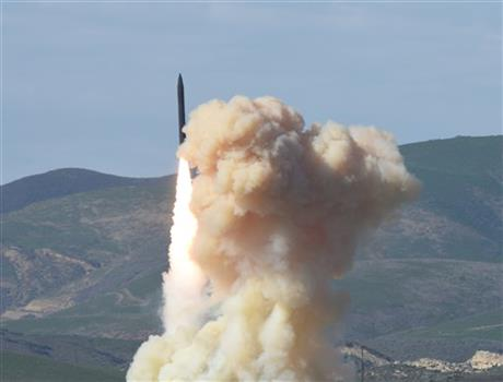 "This photo provided by the Defense Department's Missile Defense Agency, taken Jan. 28, 2016, shows a long-range ground-based interceptor is launched from Vandenberg Air Force Base, Calif. As North Korea rattles its nuclear saber and threatens to bomb the U.S. at ""any moment,"" a nerve-jangling question hangs in the air: If North Korea did launch a nuclear-armed missile at an American city, could the Pentagon's missile defenses shoot it down beyond U.S. shores? (Defense Department's Missile Defense Agency via AP)"
