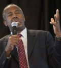 FILE - In this Sept. 11, 2015 file photo, Republican presidential candidate Ben Carson speaks in St. Louis. Carson has moved into the top tier of the 2016 presidential race as quietly as Donald Trump crashed the party with bombast, and he'll join the billionaire real-estate mogul as a focus of attention at the GOP's second debate. (AP Photo/Sid Hastings, File)