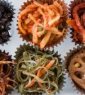Shown is the Foodshop's sampler box, with the banchan arranged in cupcake liners. (Cecilia Hae-Jin Lee / For the Los Angeles Times)