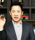 Google's Chromecast and TV business head of the Asia Pacific region, Mickey Kim, introduces the Chromecast 2.0 during a press conference in Samseong-dong, southern Seoul, Wednesday. (Courtesy of Google Korea)