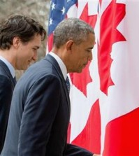 President Barack Obama and Canadian Prime Minister Justin Trudeau depart from a bilateral news conference in the Rose Garden of the White House in Washington, Thursday, March 10, 2016. (AP Photo/Andrew Harnik)
