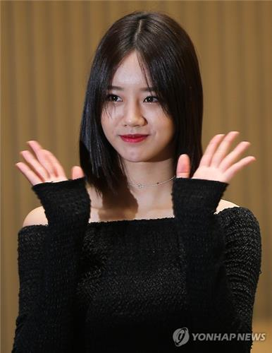 """Singer Hyeri at the press conference promoting her upcoming SBS TV series """"Entertainer"""" on April 19, 2016."""