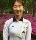 South Korean archer Choi Mi-sun poses for a picture after an interview at the National Training Center in Seoul on April 27, 2016.