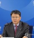 BOK deputy governor Yoon Myun-shik speaks during his media briefing in Seoul on April 29, 2016.