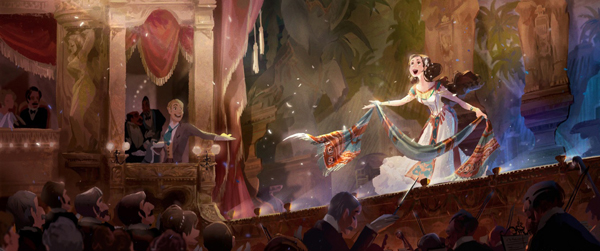 "Background design of Celine Kim's ""The Phantom of the Opera"""