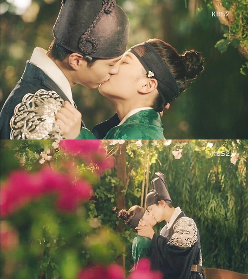 "Stills from the KBS 2TV series ""Love in the Moonlight."""