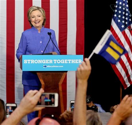 Hillary Clinton campaigns at Kent State University