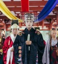 """The still photo of South Korean television series """"Moon Lovers: Scarlet Heart Ryeo,"""" provided by NAMOO Actors, shows star actor Lee Joon-gi (C)."""