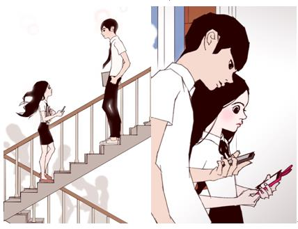 "This captured image is from the webtoon series ""Love Alarm"" written by graphic novelist Chon Kye-young."
