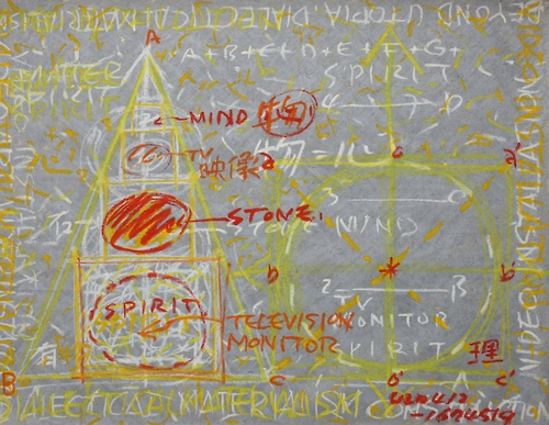 "The image provided by Gallery Hyundai shows Park Hyun-ki's ""Untitled, oil stick on canvas"" in 1993-1994."
