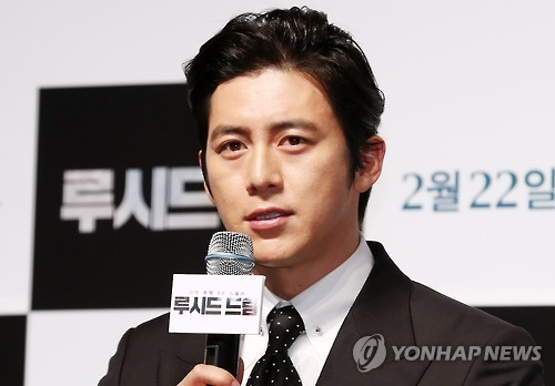 "Actor Go Soo speaks during a news conference for the Korean sci-fi thriller ""Lucid Dream"" at the CGV-Apgujeong theater in southern Seoul on Feb. 2, 2017."