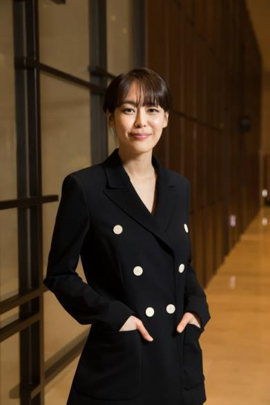"In this photo provided by OCN, actress Lee Ha-na, star of TV crime series ""Voice"" poses for a photo at the Stanford Hotel in western Seoul on Feb. 15, 2017."