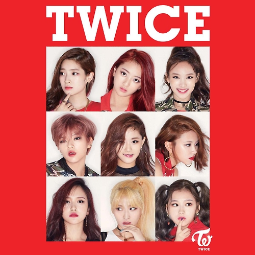 "This image provided by JYP Entertainment shows the cover of TWICE's new digital album ""What's Twice"" released on Feb. 23, 2017."