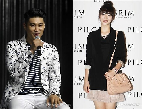 This composite photo shows Dynamic Duo's Choiza (L) and singer-turned-actress Sulli
