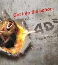 This photo provided by CJ CGV is a promotional image for 4DX theaters.