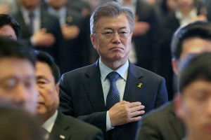 Mr. Moon in Seoul this week. Until now, the election had seemed like a shoo-in for him. Credit Yonhap, via European Pressphoto Agency