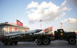 Missiles paraded in Pyongyang, North Korea, last October. Credit Wong Maye-E/Associated Press
