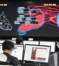 Workers at the Korea Internet and Security Agency in Seoul, South Korea, monitored the spread of ransomware cyberattacks on Monday. Credit Yonhap