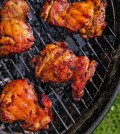 Chicken thighs, which will be cooked long enough in the presence of smoke and indirect heat to qualify as barbecue, are best prepared on a charcoal grill. Credit Jessica Emily Marx for The New York Times