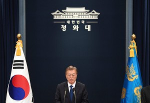 President Moon Jae-in of South Korea has said he would be willing to meet with North Korean officials to discuss the North's military program. Credit Pool photo by Jungj Yeon-Je SEOUL, South Korea — North Korea launche