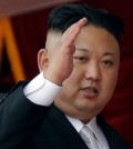North Korean leader Kim Jong Un waves during a military parade on April 15, 2017, in Pyongyang, North Korea. (Wong Maye-E / Associated Press)
