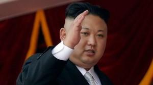 North Korean leader Kim Jong Un waves during a military parade on April 15, 2017, in Pyongyang, North Korea. (Wong Maye-E / Associated Press)