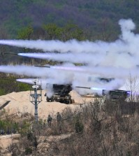 Rockets being fired in April during a joint military drill between the United States and South Korea. A North Korean diplomat said his country might be willing to consider a moratorium on nuclear and ballistic missile tests if such exercises were halted. Credit Jung Yeon-Je/Agence France-Presse — Getty Images