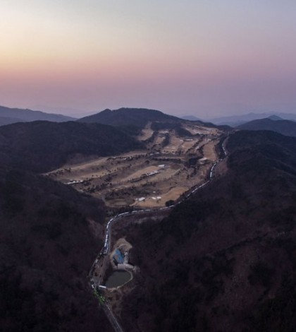 An aerial view of a golf course where the United States deployed an antimissile system in Seongju, South Korea. The system, known as Thaad, has been a point of contention with South Korea's new president, Moon Jae-in. Credit Ed Jones/Agence France-Presse — Getty Images
