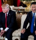 President Trump and President Xi Jinping of China at Mar-a-Lago, Mr. Trump's club in Palm Beach, Fla., in April. Beijing had hoped the initial cordiality between the two leaders would establish the sort of nonconfrontational partnership that it prefers. Credit Doug Mills/The New York Times