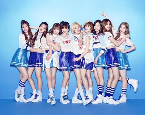 A publicity image for K-pop group TWICE (Yonhap)