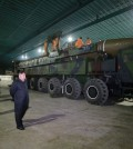 North Korea's leader, Kim Jong-un, inspecting the intercontinental ballistic missile Hwasong-14. By exploiting the dynamics of nuclear warfare and diplomacy, North Korea can dictate terms to the world's most powerful country. Credit Korean Central News Agency, via Reuters
