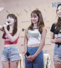 K-pop girl group Girl's Day greets fans at a meet-and-greet event held at KCON LA 2017 in Los Angeles from Aug. 18-20. Photo courtesy of CJ E&M. (Yonhap)