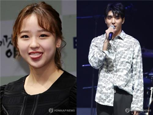 These file photos show retired rhythmic gymnast Sohn Yeon-jae and Choi Jong-hoon, leader of the boy band F.T. Island. (Yonhap)