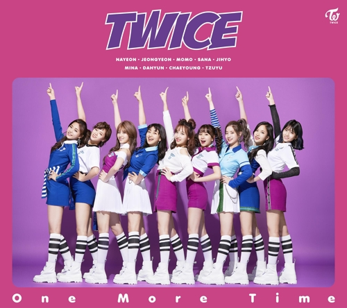 "A teaser image for K-pop act TWICE's upcoming Japanese song ""One More Time"" (Yonhap)"