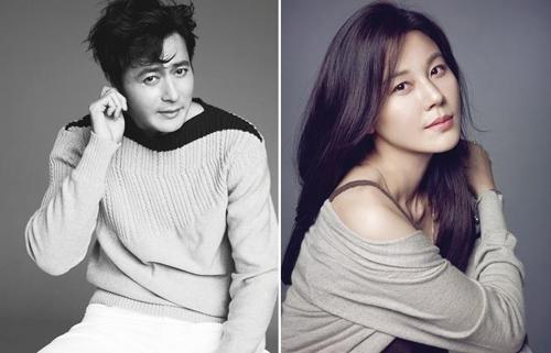 This composite image shows actor Jang Dong-gun (L) and actress Kim Ha-neul. (Yonhap)