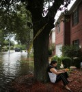 Ruth Giraldo, a resident of Concord Bridge in northwest Houston, in front of her home on Wednesday. Credit Barbara Davidson for The New York Times