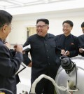 Kim Jong-un, center, before a nuclear test at an undisclosed location, according to the North's state-run news agency. Credit KCNA/European Pressphoto Agency