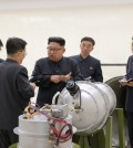 President Kim Jong-un of North Korea, center, before a nuclear test at an undisclosed location, according to North Korea's state-run news agency. Credit Kcna/Reuters