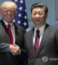 This AP file photo shows U.S. President Donald Trump (L) and Chinese President Xi Jinping. (Yonhap)