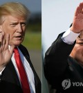 This compilation image shows an AFP photo of U.S. President Donald Trump (L) and North Korean leader Kim Jong-un. (Yonhap)