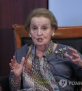 This AP file photo shows former U.S. Secretary of State Madeleine Albright. (Yonhap)