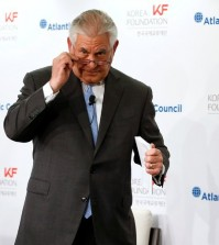 "Speaking to the Atlantic Council on Tuesday, Secretary of State Rex W. Tillerson said, ""We're ready to talk anytime North Korea would like to talk, and we're ready to have the first meeting without precondition."" Credit Jonathan Ernst/Reuters"