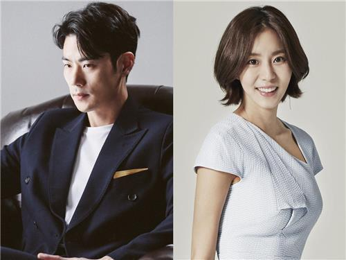 Photos of Kim Kang-woo (L) and Uee, provided by King Entertainment and Yuleum Entertainment, respectively (Yonhap)