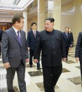 The North Korean leader, Kim Jong-un, center, meeting in Pyongyang, the capital, on Monday, with South Korean envoys. Credit North Korean Central News Agency, via European Pressphoto Agency