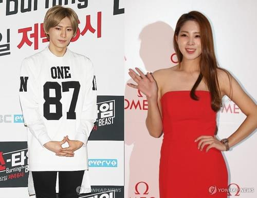 A composite file photo of K-pop singer Jang Hyun-seung (L) and star athlete Shin Soo-ji (Yonhap)
