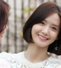 """Yoona, a member of girl group Girls' Generation who has also picked up acting, poses for photos ahead of an interview in Seoul on Sept. 19, 2017. She starred in the TV drama """"The King Loves"""" that ended on the day. (Yonhap)"""