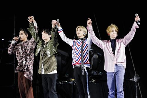 This photo of SHINee was provided by SM Entertainment. (Yonhap)
