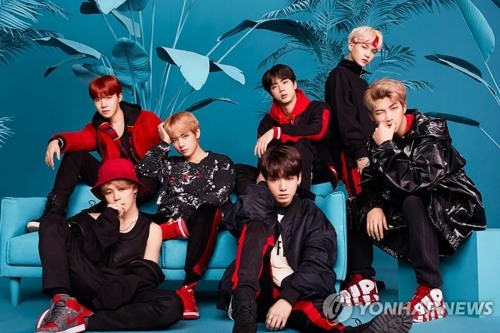 This photo provided by Big Hit Entertainment shows K-pop boy group BTS. (Yonhap)